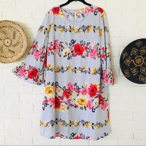 New Old Navy Floral Ruffle Sleeve Dress
